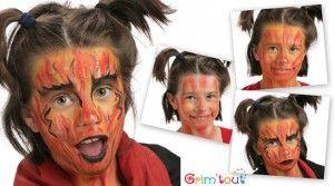 Modèle maquillage enfant – Diablesse