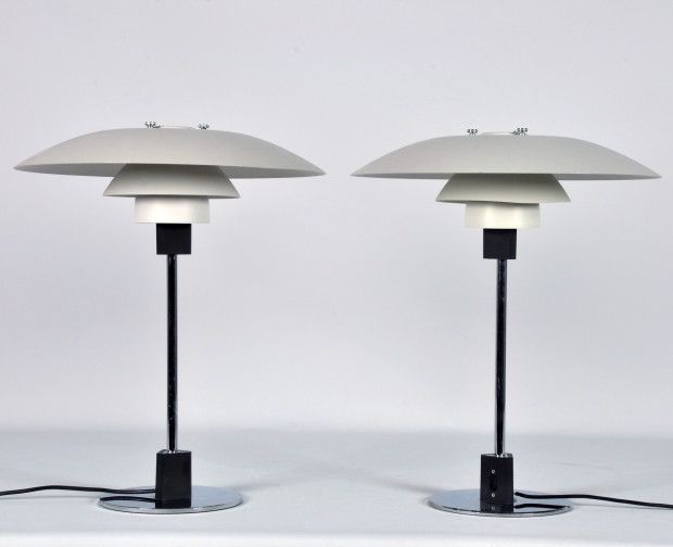 A Pair of Louis Poulsen PH Modernist Multi-Shade Table Lamps | FREDERICK FINE ART