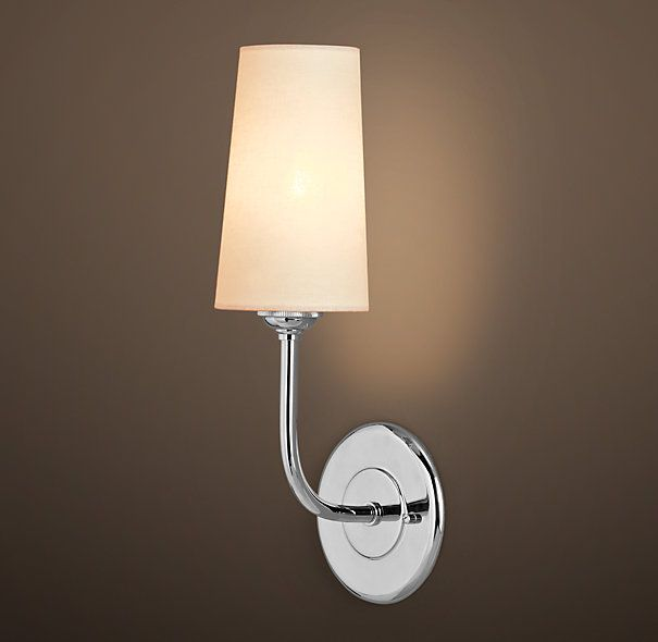 RH's Modern Taper Sconce with Linen Shade:Our contemporary ...