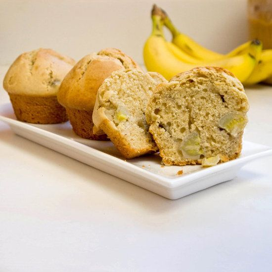Homemade peanut butter, banana muffins!
