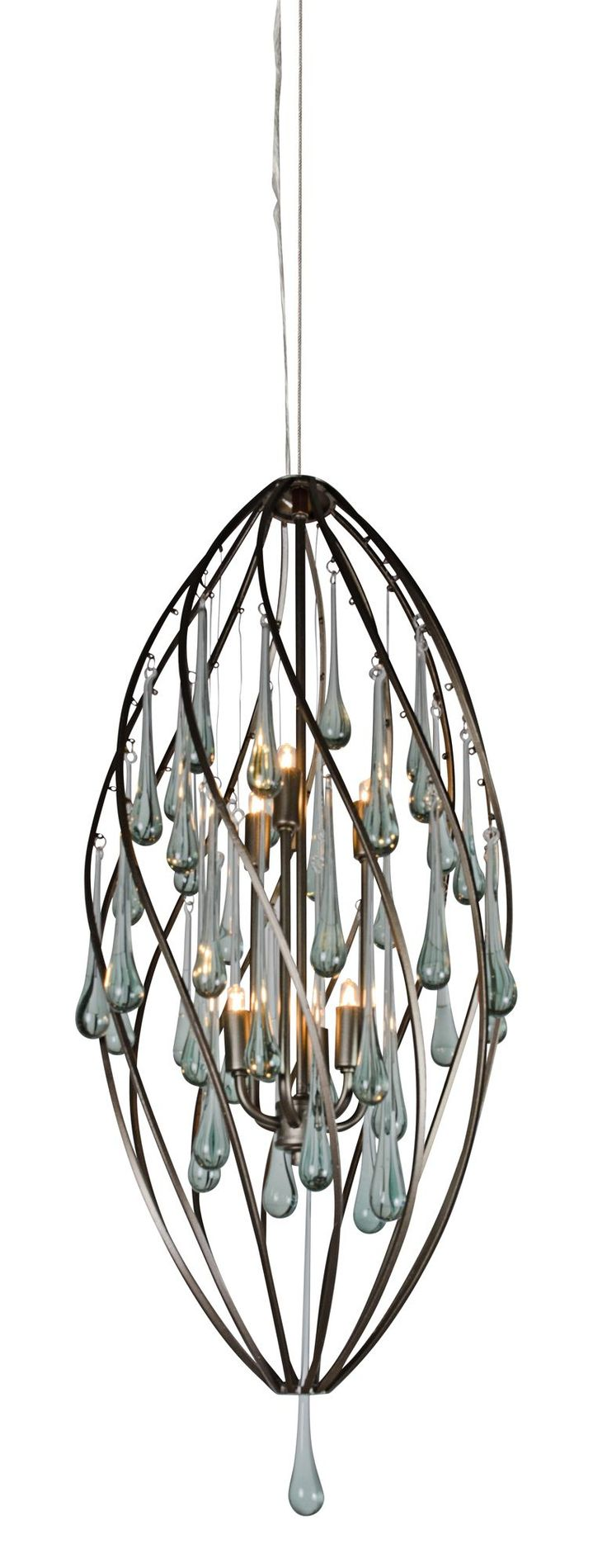 leaf company chandelier currey glass recycled tiered and silver products