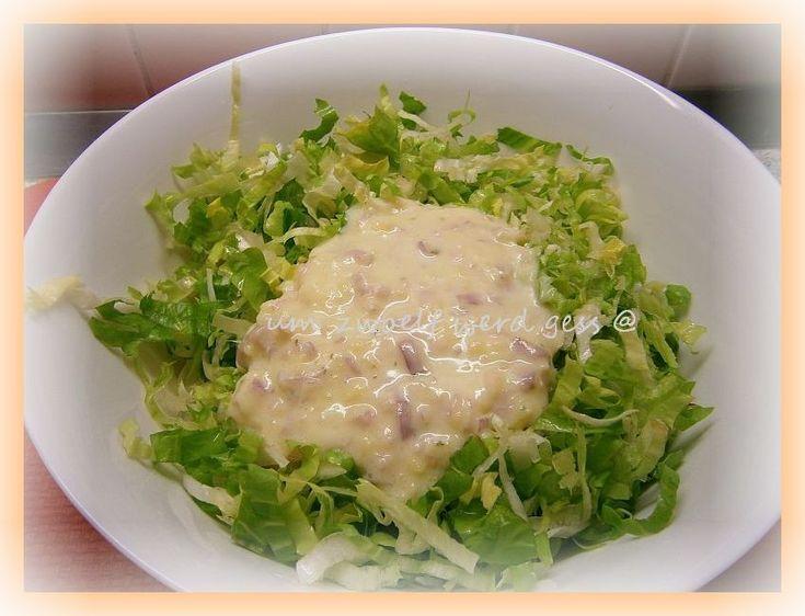 Endiviensalat mit Kartoffeldressing