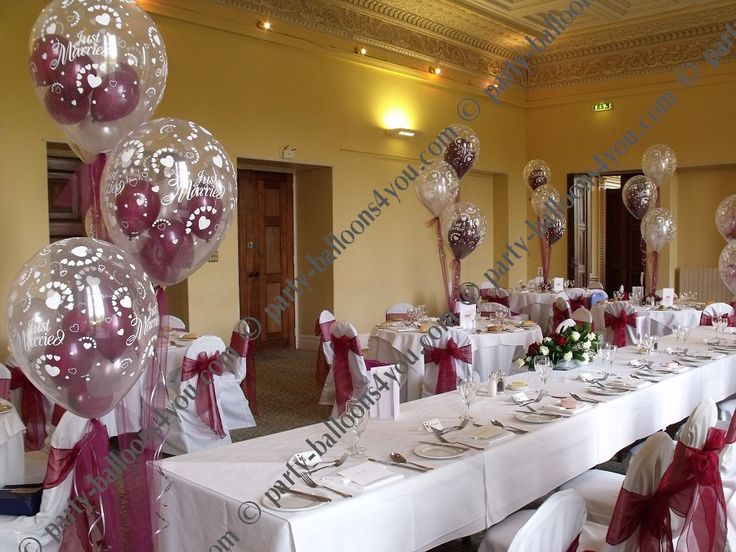 Helium Balloon Decorations With Flowers On End