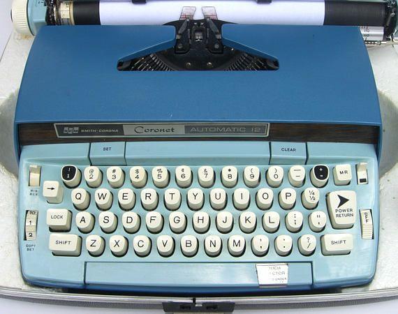 Vintage Smith Corona Portable Electric Typewriter Coronet