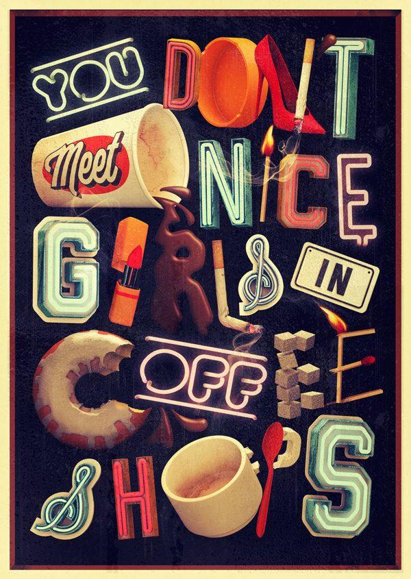 NEON TYPE by Thomas Burden, via Behance