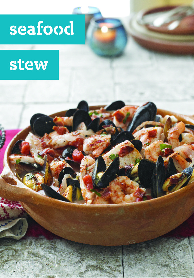 Seafood stew filled with bacon fresh cilantro and an for Recipe for seafood stew