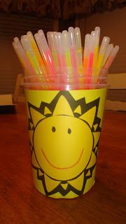 Primary Music idea: A light to all the world. Glow stick leading.