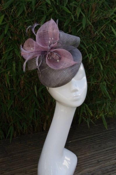 Pewter and heather button by SUSAN FAGE #millinery #hats #HatAcademy