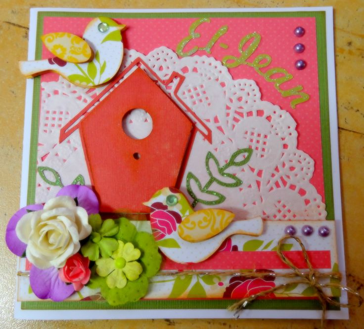 Birdhouse birthday card