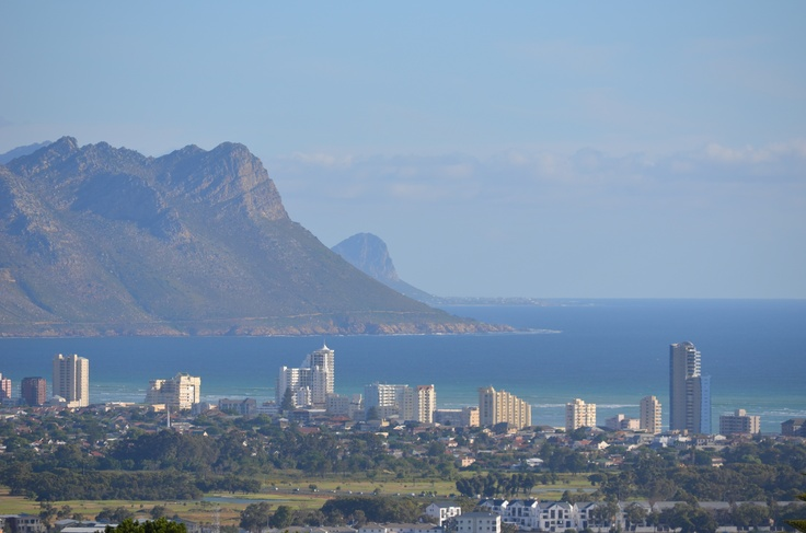 Strand as seen from the Helderberg mountain in Somerset West. Views from the Heldervue suburb.