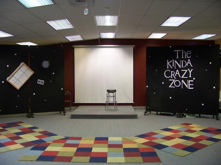 Twilight Zone Set Base Camp Church Kids Stage