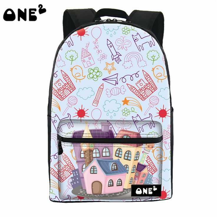 ONE2 design architectural pattern leisure backpack beautiful china wholesale backpack teenage cheap cool backpack