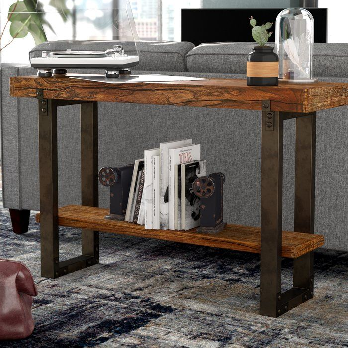 Diandra 48 Solid Wood Console Table Wood Console Table Console Table Wood Console