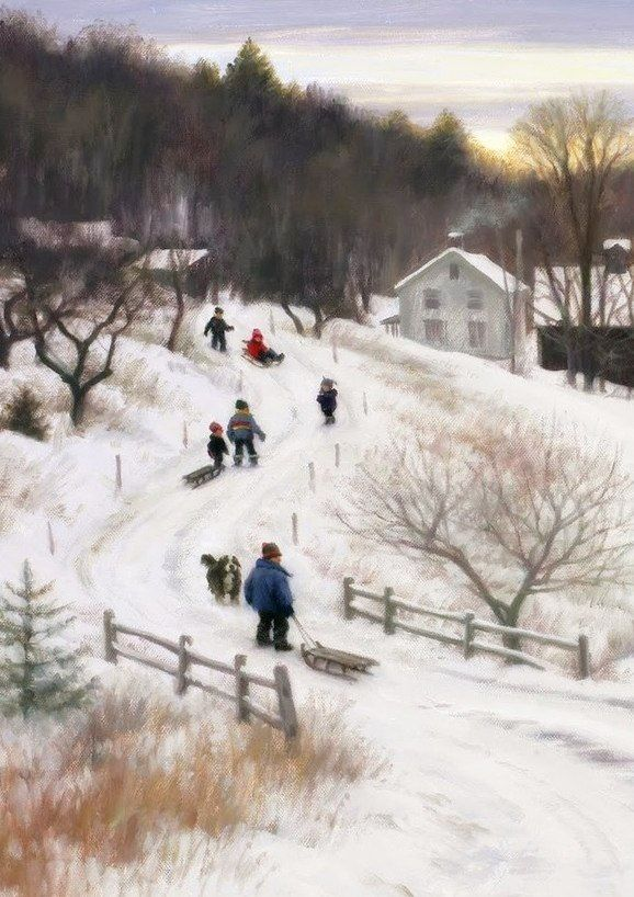 This harkens to a simpler time for me - happy memories.   Winter Art