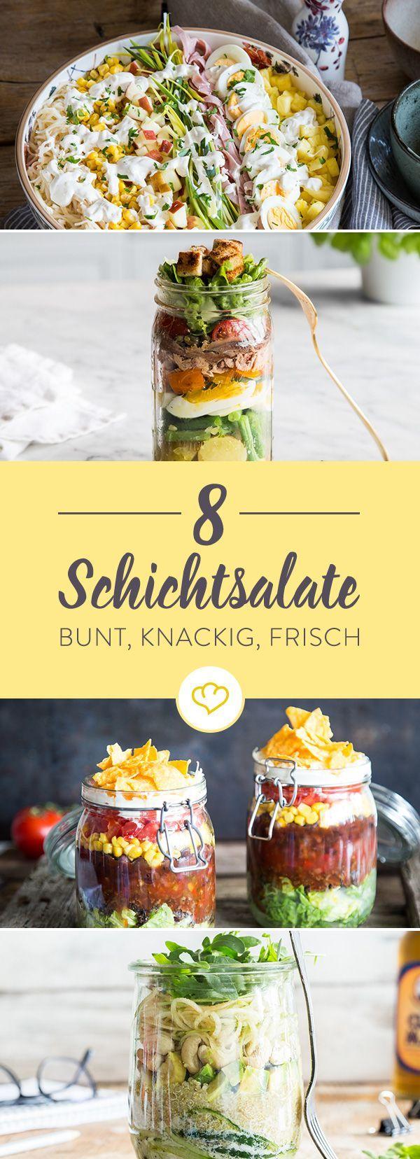 8 Rezepte für bunte Schichtsalate