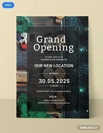 Free Restaurant Grand Opening Invitation Template Word Psd Apple Pages Illustrator Publisher Grand Opening Invitations Shop Opening Invitation Card Invitations