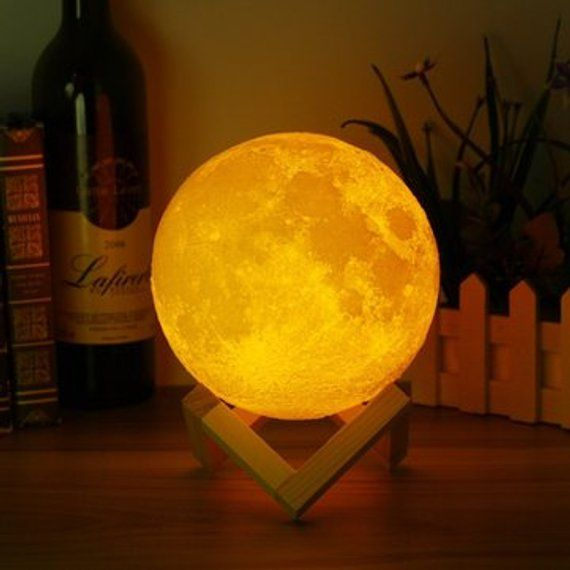 3d Tisch Lampe Nachtlicht Mond 15 Cm 59 Zoll Etsy Night Light Led Night Light Lamp