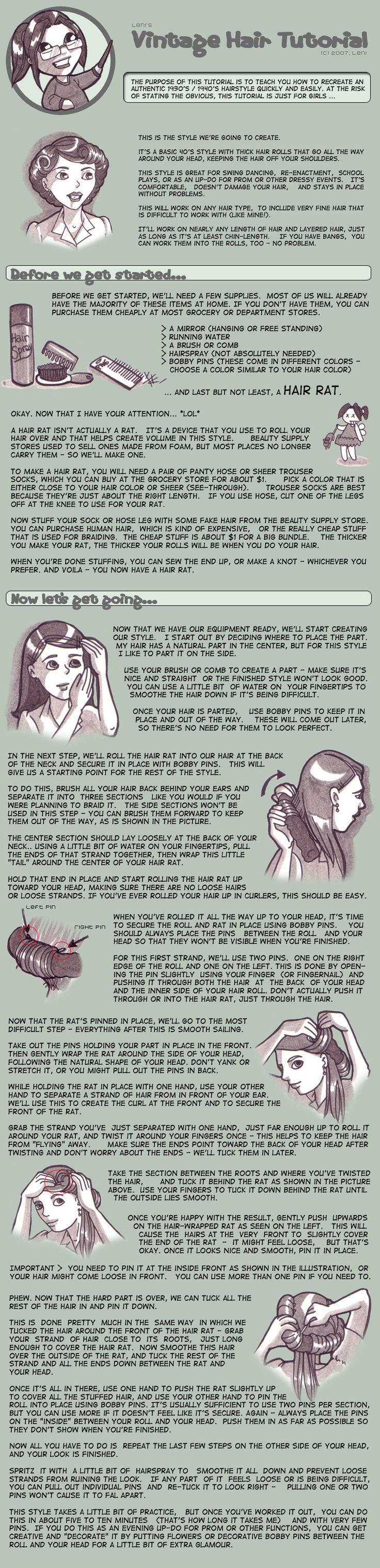 Tutorial - Easy Vintage Hair by *MauserGirl on deviantART