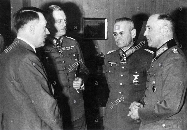 Adolf Hitler, Wilhelm Keitel, Franz Halder, Walther von Brauchitsch, 1941