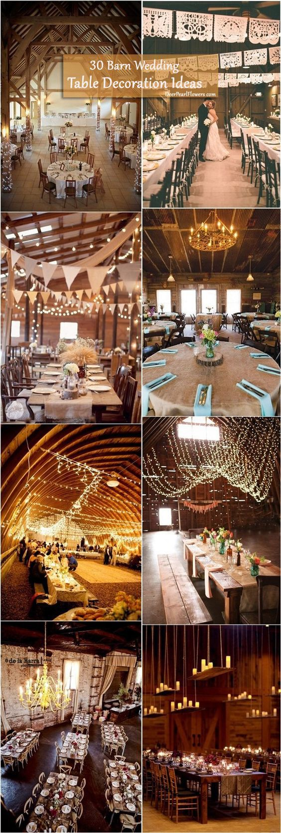 30 Barn Wedding Reception Table Decoration Ideas / http://www.deerpearlflowers.com/barn-wedding-reception-table-decoration/