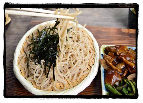きのこそば 木の小屋 Mushroom soba. kurosuke ishigaki