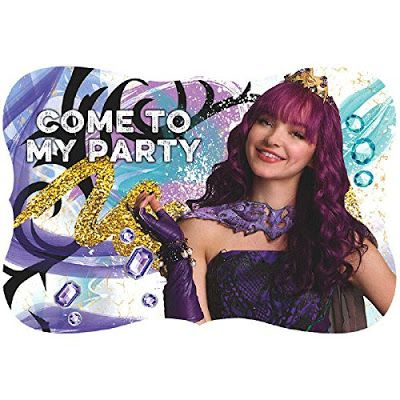 Disney Descendants 2 party invitations package of 8