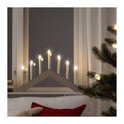 IKEA - STRÅLA, 7-ramenný LED svietnik, , Vytvára príjemnú, sviatočnú atmosféru domova.LED svetelný zdroj spotrebuje o až 85% menej energie a vydrží 10 krát dlhšie ako bežná žiarovka.