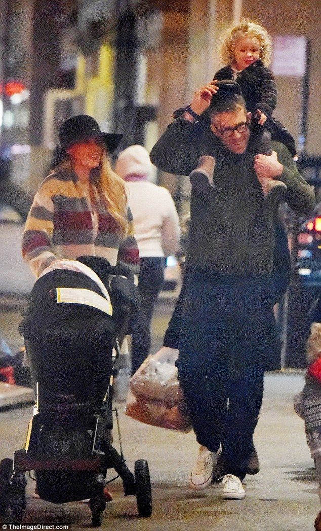 Family night out! Blake Lively and her husband Ryan Reynolds looked every bit the happy, cool family as they enjoyed a relaxing evening stroll with their two-year-old daughter James and Ines, five months, who was nestled inside her stroller in New York City on Wednesday
