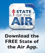 Download the FREE State of the Air® App. Protect your health and download the American Lung Associations free air quality app at http://www.lung.org/healthy-air/outdoor/state-of-the-air-app.html.