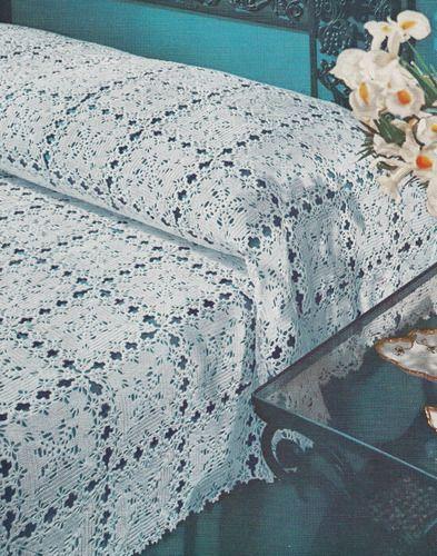 Vintage Crochet Pattern New Orleans Motif Bedspread NewOrleansBedspread