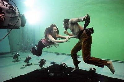 Underwater film shoot with green screen | Wild White Harts, April 2010