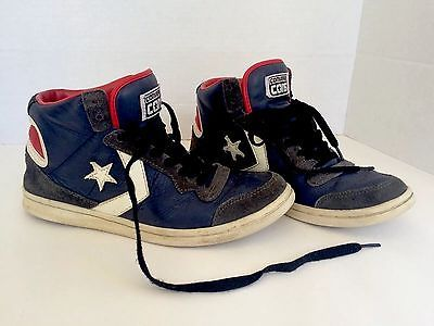 Pre-Owned Unisex Converse Cons High Tops Dark Blue Leather Men's Size 6 Women's