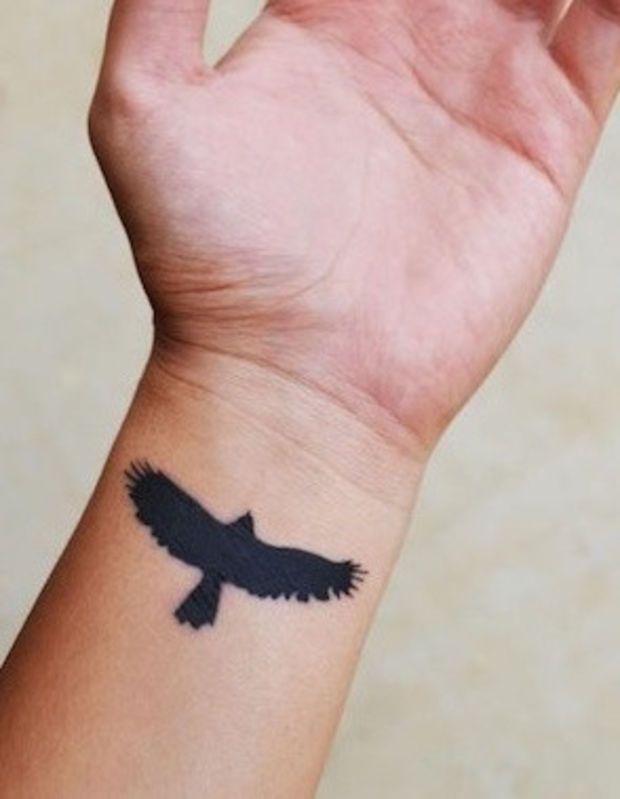 Hawk Temporary Tattoo