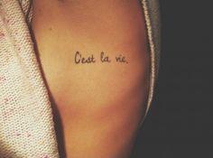 C'est la vie (así es la vida) #tatuaje #tattoo #ink