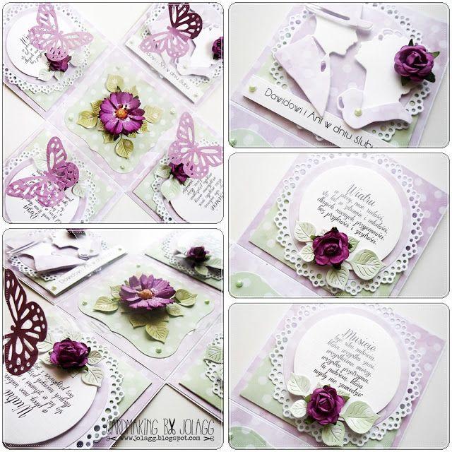 Cardmaking by jolagg: Pudełko na ślub z życzeniami i motylkami