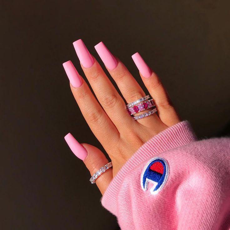 Deanna Celebrity Mua On Instagram Baby Pink Matte Nails Chaunlegend Rings Deanna Paley Use Code Deanna For Nagelideen Baby Rosa Nagel Rosa Nagel