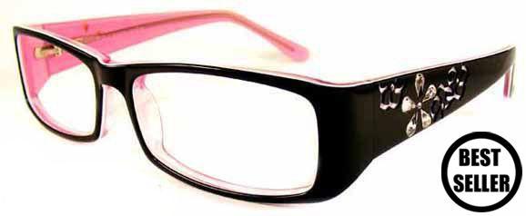 black and pink Prescription Glasses for Women | Delancy 26 Black Pink, Purchase Designer Glasses Online |Spectacles ...