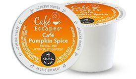 Cafe Escapes Pumpkin Spice K-Cups, 16 Count Café Escapes http://www.amazon.com/dp/B00LT2V7ZA/ref=cm_sw_r_pi_dp_629vvb1KR8QK9
