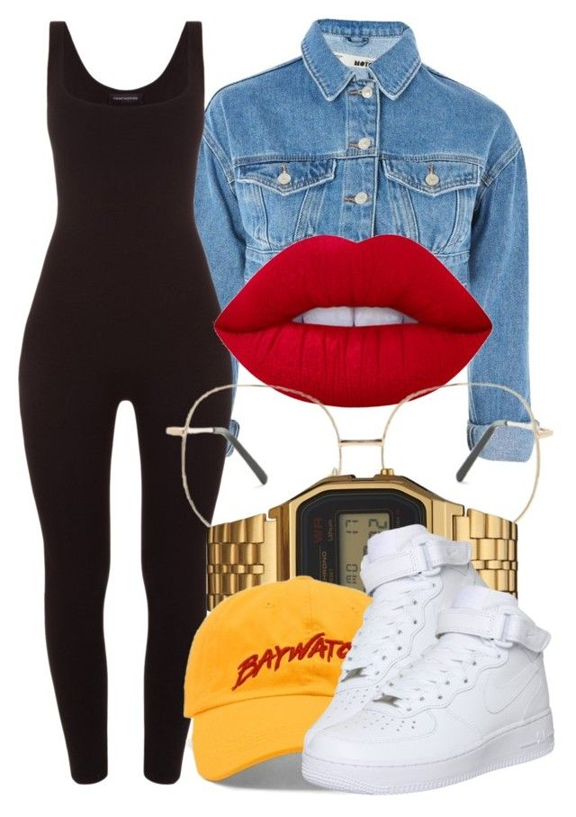 """""""7 4 17"""" by miizz-starburst ❤ liked on Polyvore featuring Topshop, Lime Crime, Forever 21, G-Shock and NIKE"""
