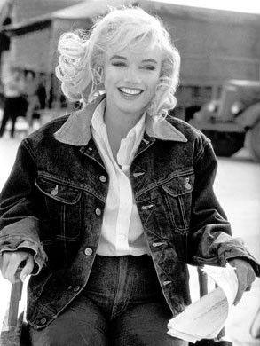 "Marilyn Monroe's denim jacket - on the set of ""The Misfits"" - 1960"