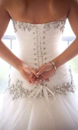 back of the famous Pnina Tornai dress. amazing designer.