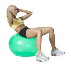 Get on the Ball: Crunches