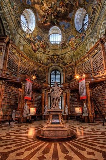 The Austrian National Library, inside the Hofburg Palace