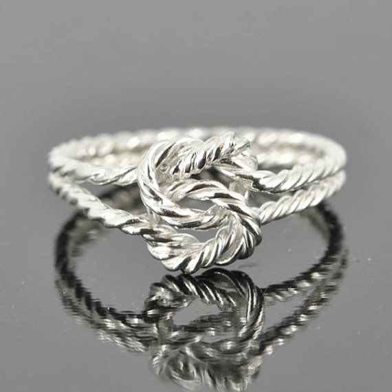 infinity ring, double infinity, twisted, rope, knot, sisters, best friend, wedding, bridesmaid. gift