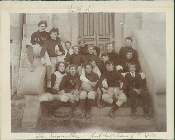 1897-98 University of Wyoming Football Team - vintage-beefcake Photo
