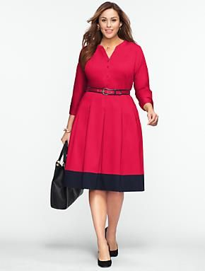 Talbots - Blocked-Hem Shirtdress | Dresses | Woman