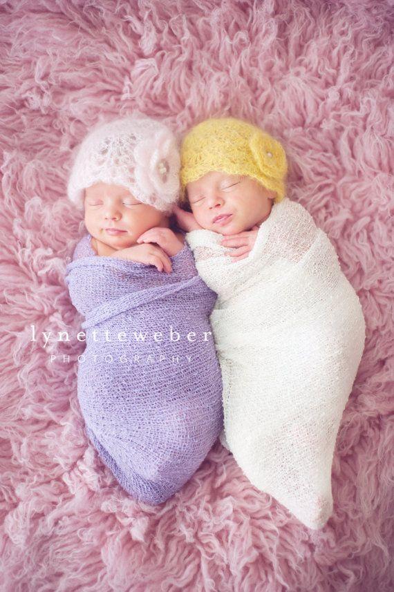 Twin Photo Prop  Newborn Photo Prop  Crochet by SquishyCouture, $50.00