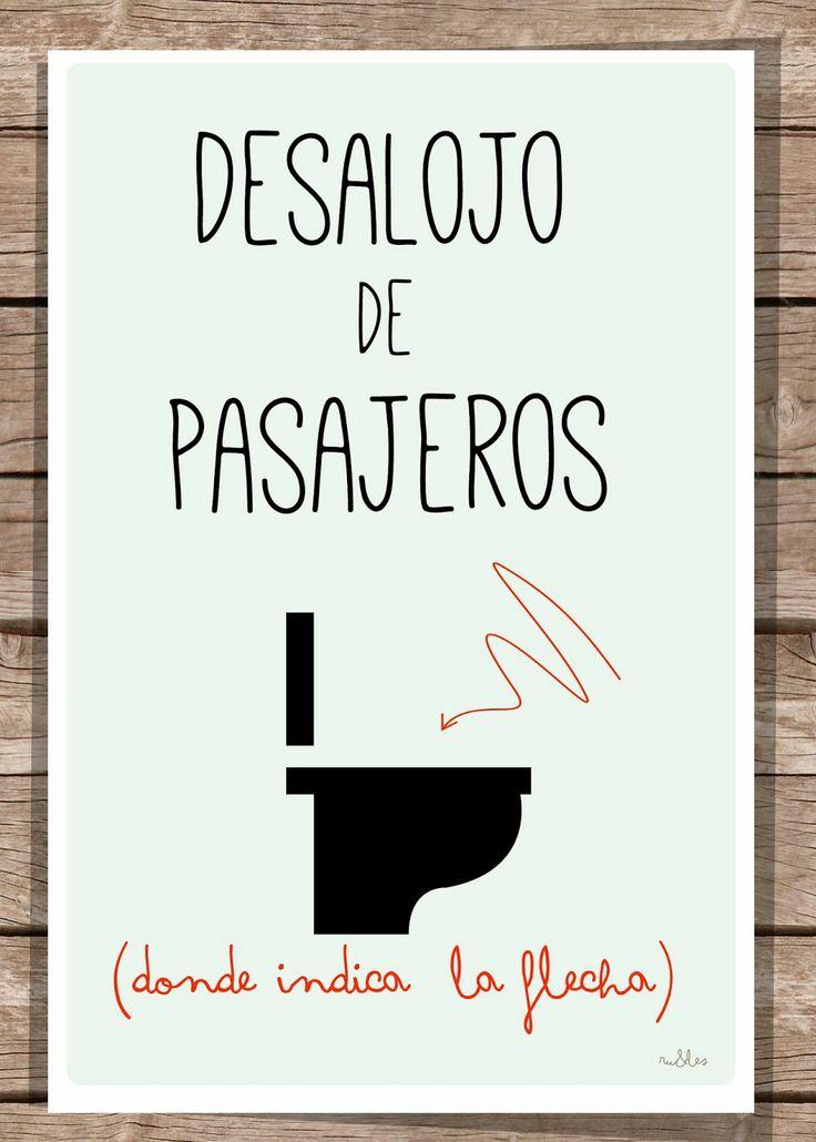 Decoracion Baños Visita:Más de 1000 ideas sobre Carteles De Baño en Pinterest