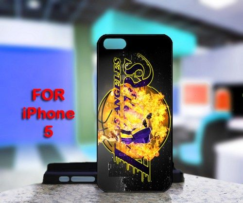 Los Angels Lakers Kobe Bryant For IPhone 5 Black Case Cover