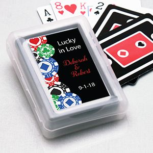 Casino Chips Personalized Playing Cards